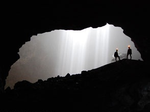 The Shadow inside Jomblang Cave