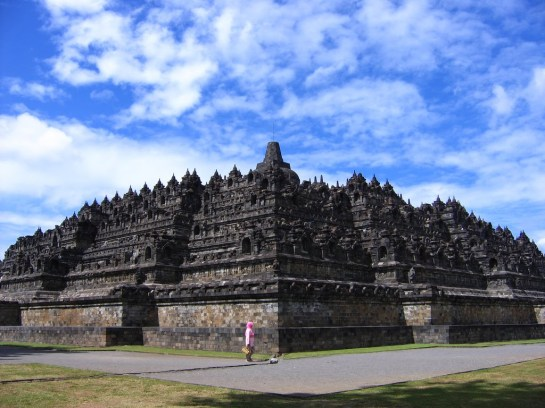 The Giant Ancient Buddhist Temple - Borobudur