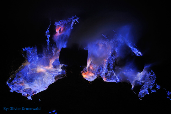 The Blue Flame of Ijen Crater