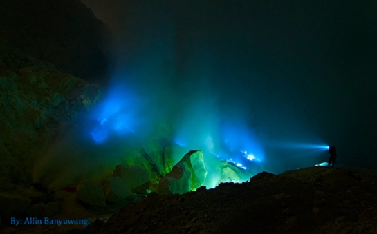The Blue Flame of Ijen