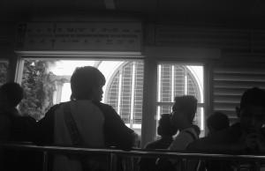 Stasiun Kota dari Jendela Halte Transjakarta