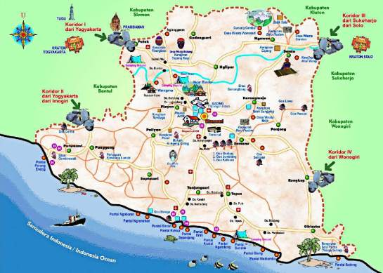 Interesting Places in Gunung Kidul Jogjakarta